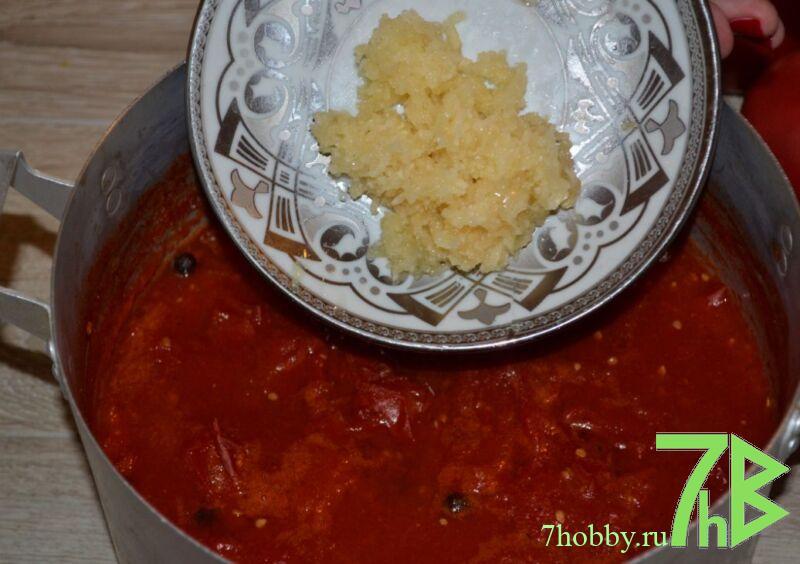 Кетчуп из помидор и чеснока на зиму