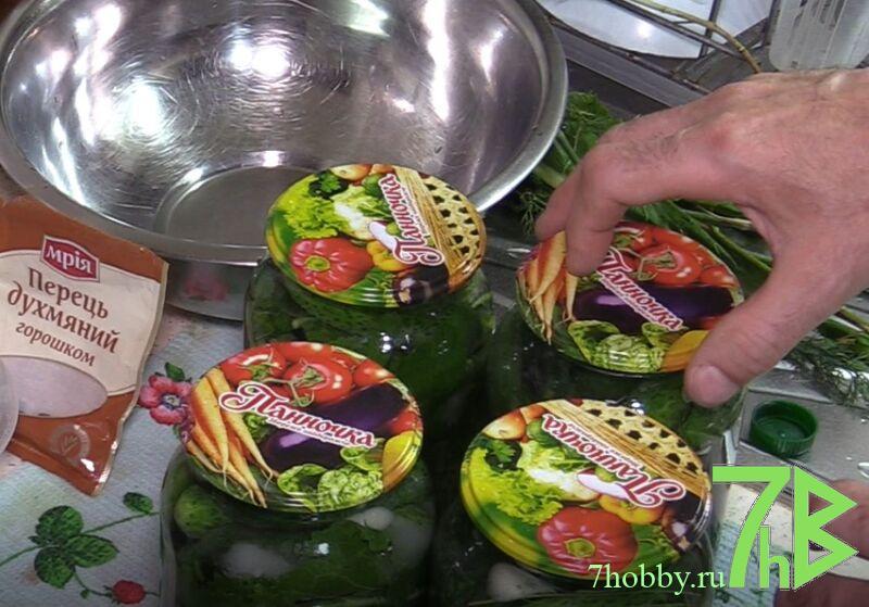 маринованные сладкие огурцы в литровых банках