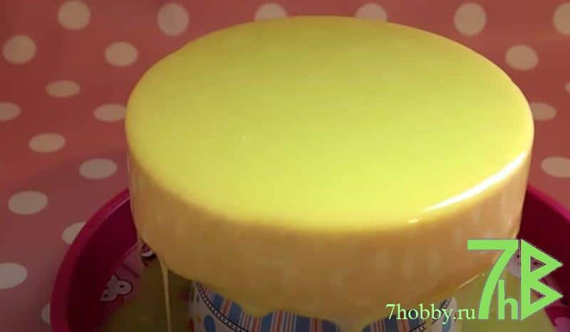 Рецепт лимонной глазури для торта желтого цвета