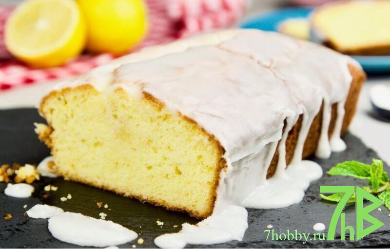 лимонная глазурь для кекса из сахарной пудры