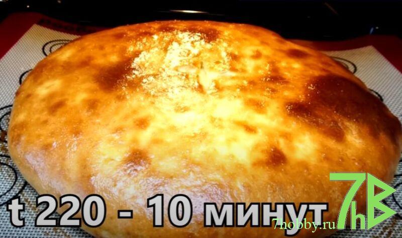 осетинского пирога с картофелем и сыром на кефире