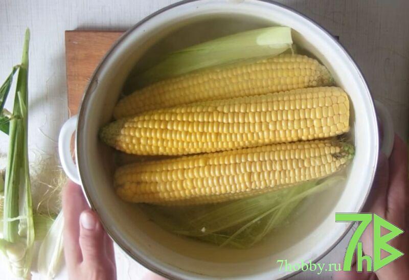 как сварить кукурузу с солью